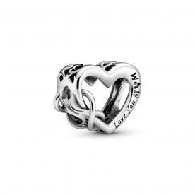 Love you Mom szív és végtelen ezüst charm
