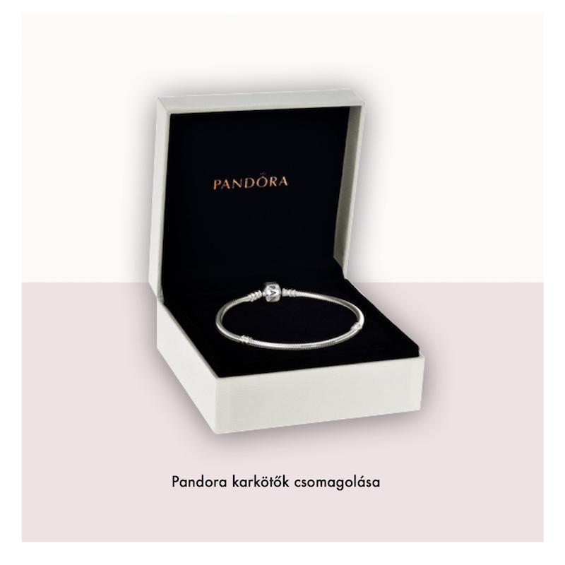 f6679e7244b1 Pandora ékszer Moments ezüst karkötő exkluzív kapoccsal Pandora karkötő  csomagolás ...