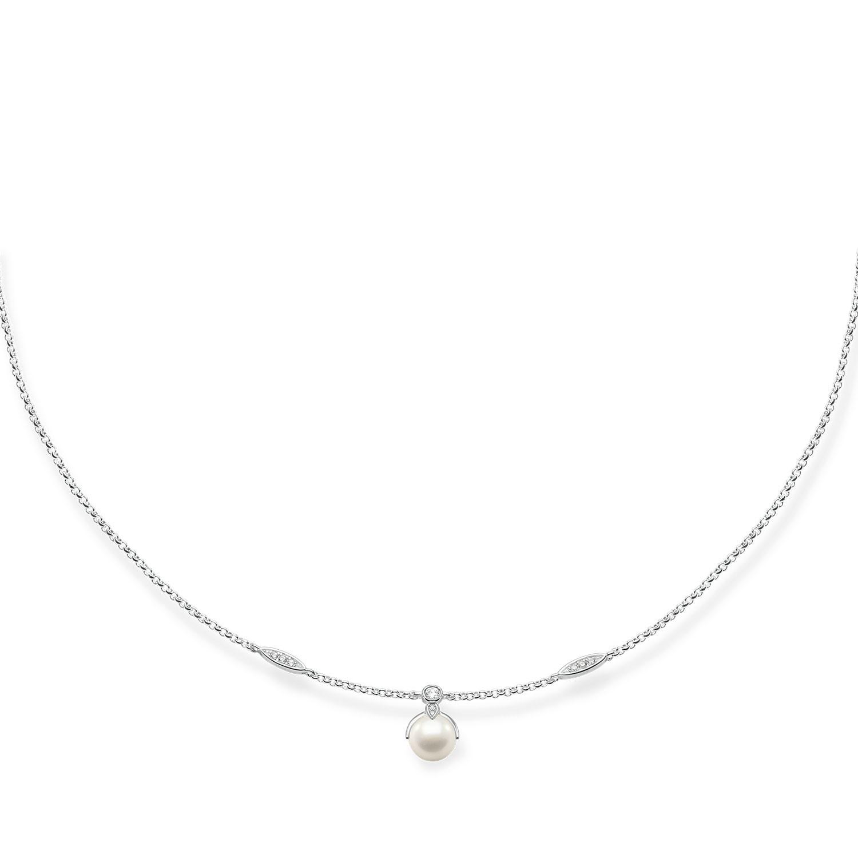 Thomas Sabo Ezüst nyaklánc tenyésztett gyöngy medállal cirkóniával  KE1389-167-14-L45 4f77bf4fcd