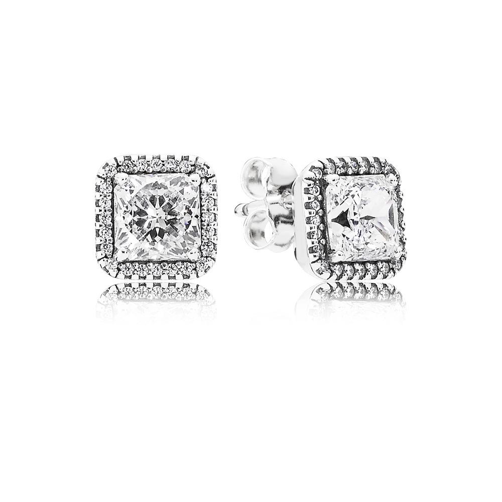 6297dec051 Pandora ékszer Időtlen elegancia ezüst fülbevaló cirkóniával - 290591CZ