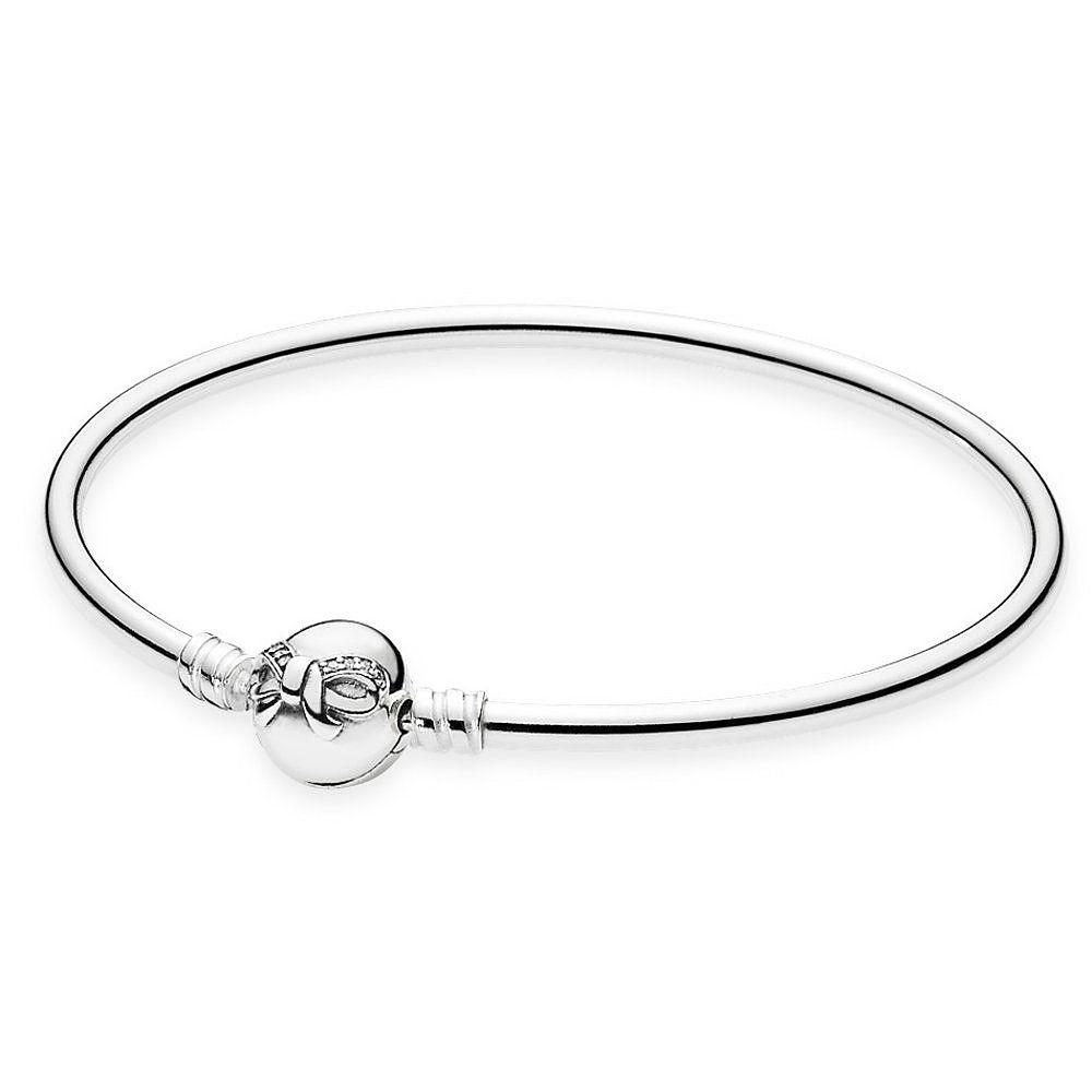 677e55f9f231 Pandora ékszer Masnis merev ezüst karkötő cirkóniával -