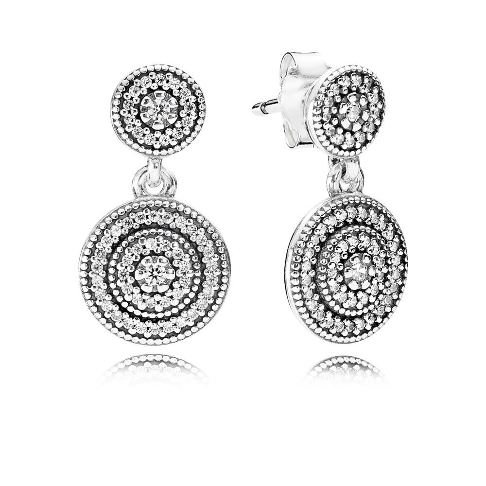 f63fe6b3d0 Pandora ékszer Sugárzó elegancia ezüst fülbevaló cirkóniával - 290688CZ