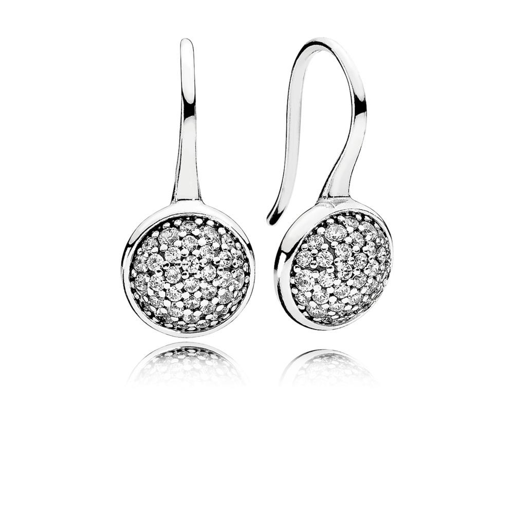 rendelés jó minőségi termékek Pandora ékszer Káprázatos cseppek ezüst fülbevaló cirkóniával ...