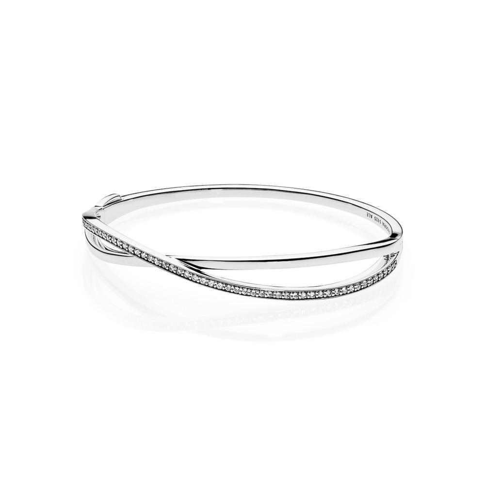 46e4d4b917 Pandora ékszer Összefonódott ezüst karperec -