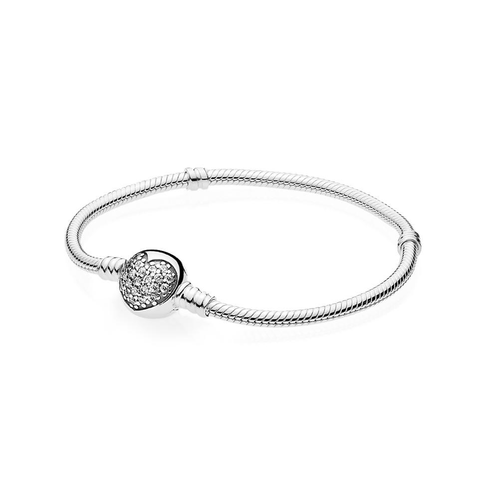7000302555 Pandora ékszer Csillogó szív moments ezüst karkötő -