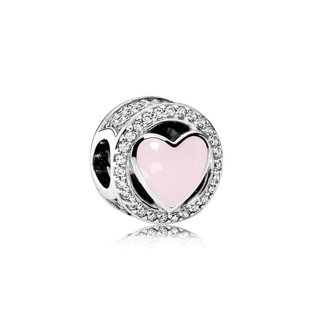 5eca5cd6c770 Pandora ékszer Rózsaszín csodálatos szeretet ezüst charm - 792034CZ
