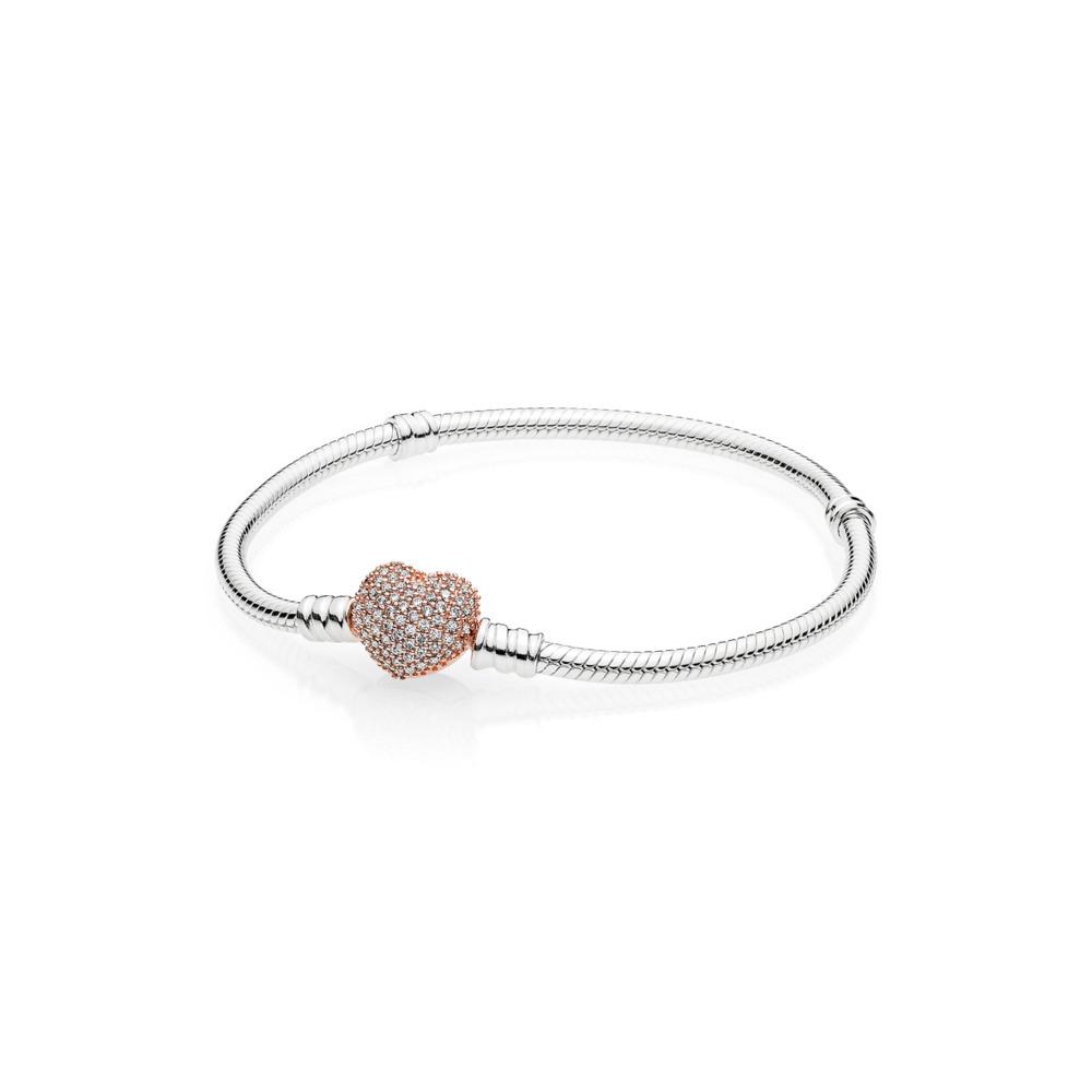 9a2fe7288544 Pandora ékszer Moments karkötő rose szív zárral -