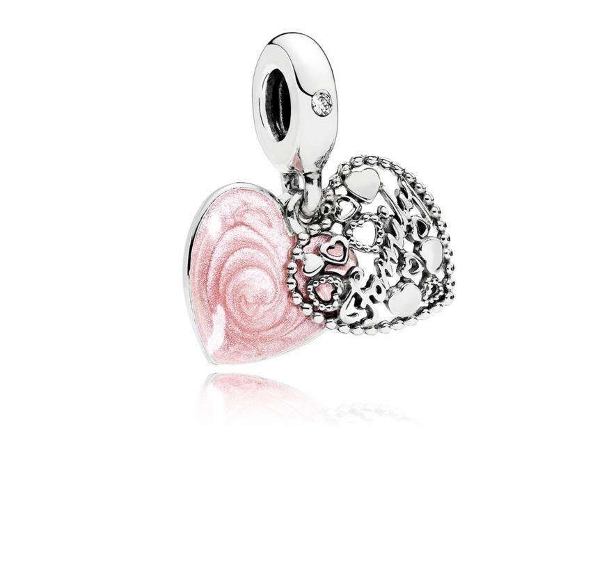 5c5fa788e25b Pandora ékszer Családi szeretet függő ezüst charm - 796459EN28
