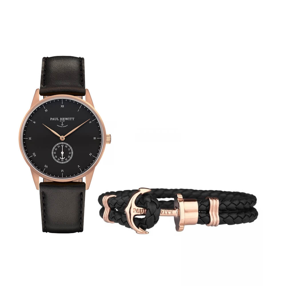 Paul Hewitt Signature rozé fekete óra karkötő szett POK002