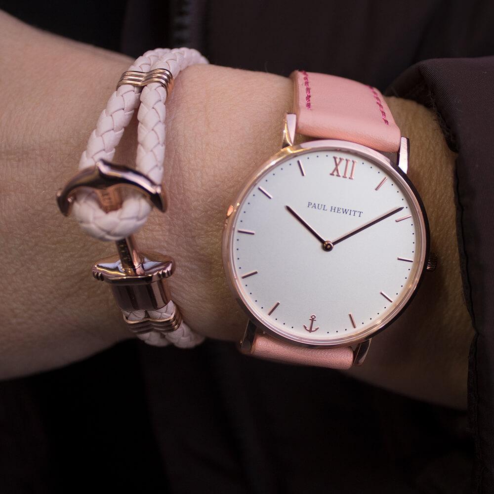 ... Paul Hewitt sailor rózé fehér női óra rózsaszín karkötő szett POK004 5ac4d0ab84