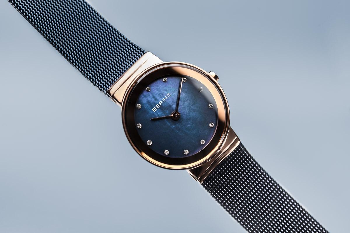 ... Bering Classic kék női óra rosé tokkal kristállyal 10126-367 ... 07ec1e5350