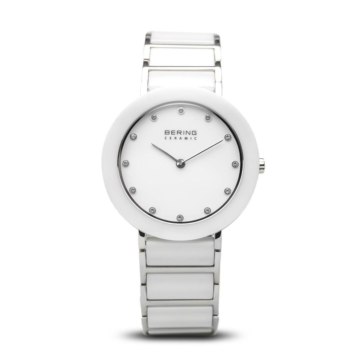 Bering Kerámia fehér acél női óra kristállyal - 11435-754 356d440f87