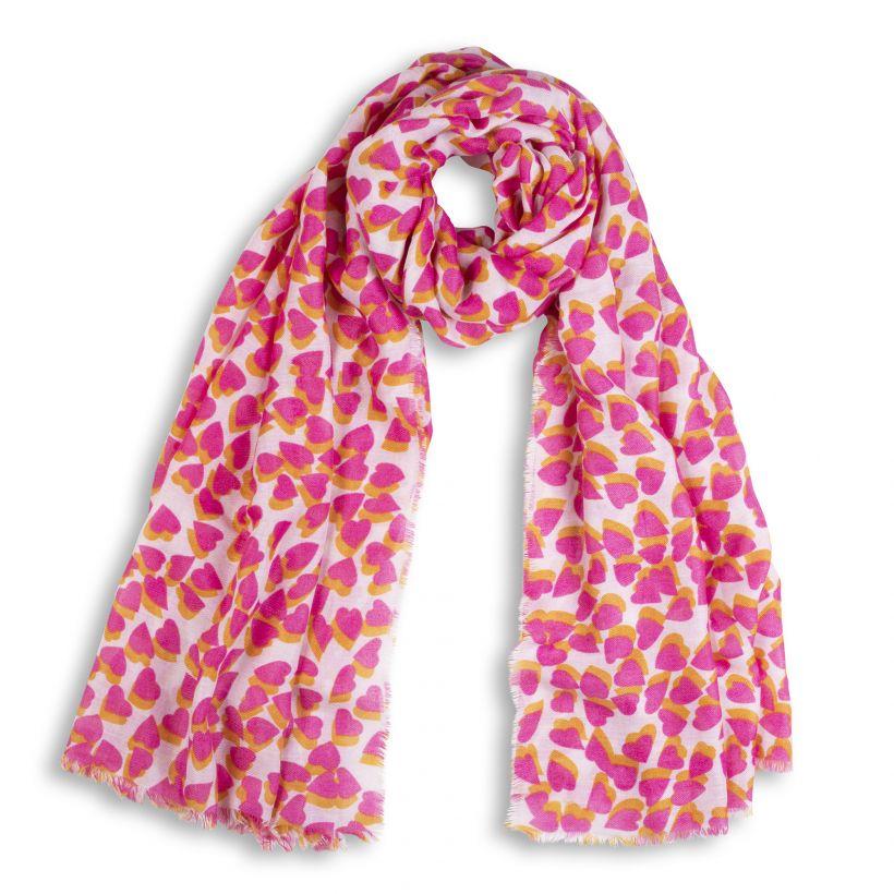 ec7df5d01c Katie Loxton Heart print rózsaszín sál - KLS145