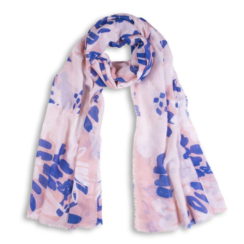 5d3d2e811d Katie Loxton Floral print rózsaszín kék sál - KL143