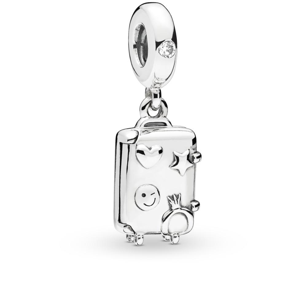 2cbeb5c31bc9 Pandora ékszer Kalandos bőrönd ezüst charm - 797887EN160