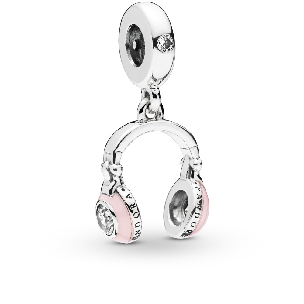 75fb23f6b045 Pandora ékszer Rózsaszín fejhallgató ezüst charm - 797902EN160