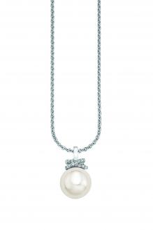 Oliver Ezüst nyaklánc tenyésztett gyöngy medállal cirkóniával SO932 8e16d25efd
